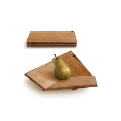 Side By Side Obstschale aus Eichenholz