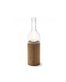 Side By Side Teelicht aus Glas und Holz