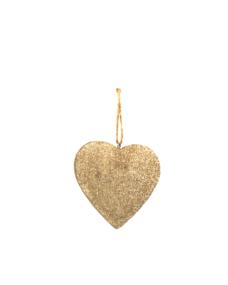Weihnachtsdeko Herz Gold