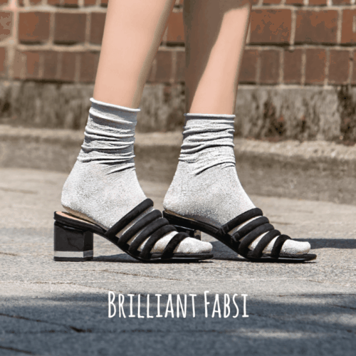To Hot To Hide Socken Brilliant Fabsi Silber